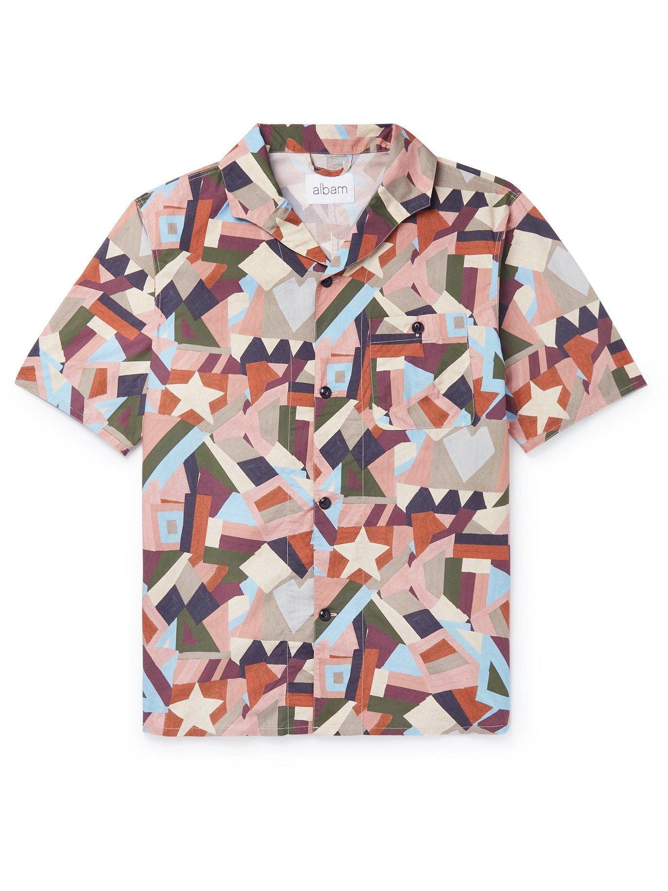 Photo: Albam - Miles Camp-Collar Printed Cotton Shirt - Multi