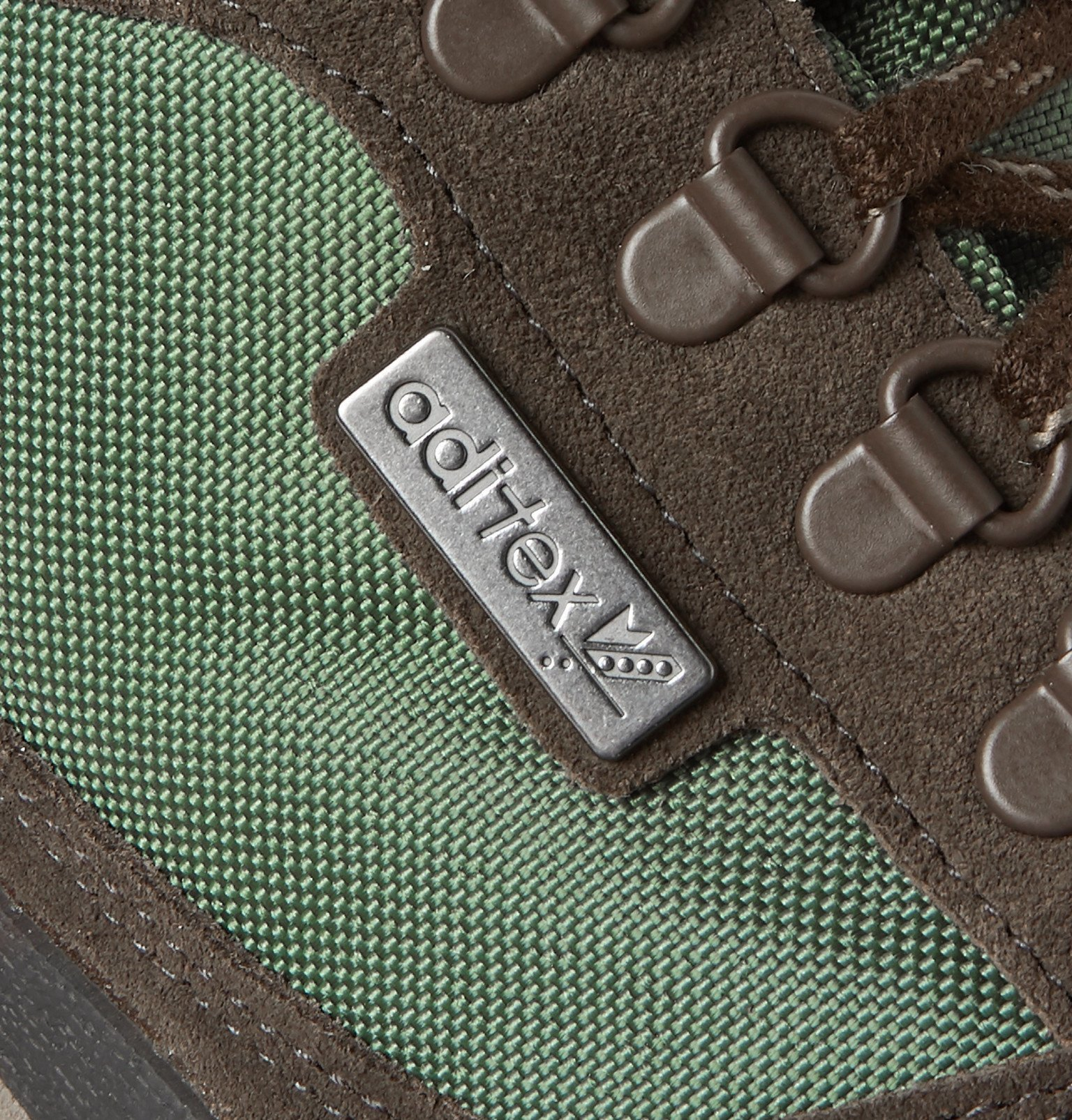 adidas Consortium - Winterhill Spezial Suede and Mesh Sneakers - Green