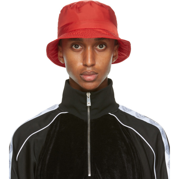 Photo: Versace Red GV Signature Bucket Hat