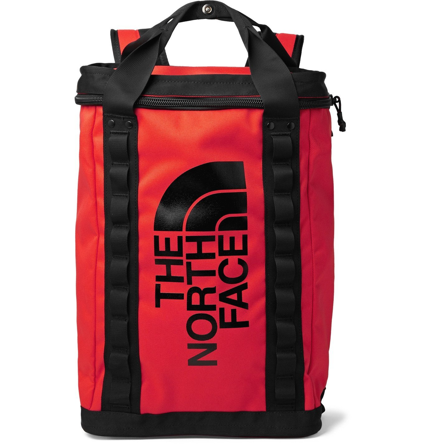 Photo: The North Face - Fusebox Logo-Print Canvas Backpack - Red