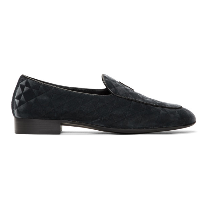 Photo: Giuseppe Zanotti Grey G-Flash Loafers