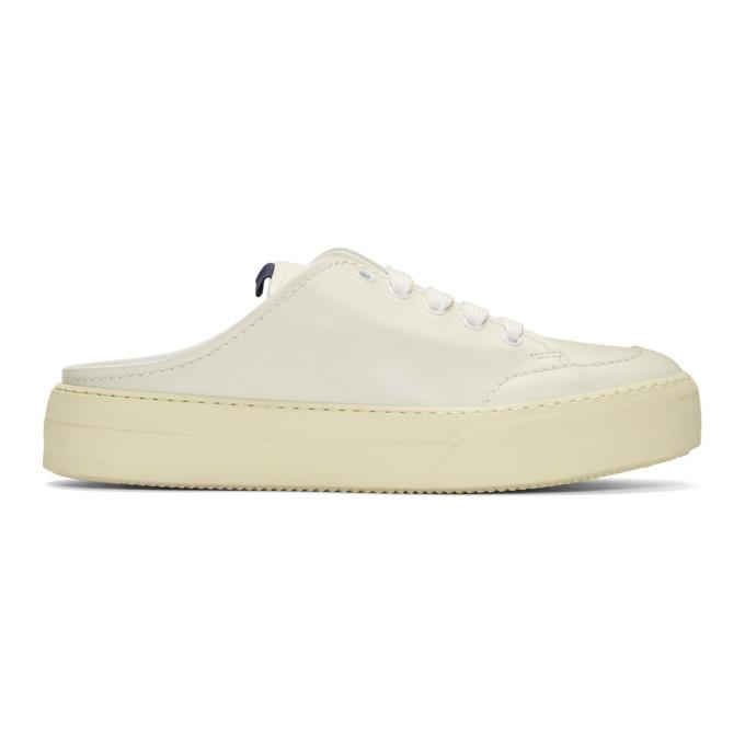 Photo: Sunnei Off-White Sabot Sneakers