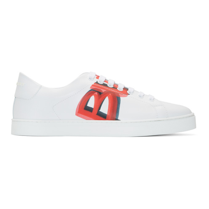 Photo: Burberry White and Red Albert Sneakers