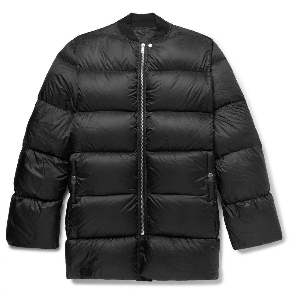 Photo: Rick Owens - Oversized Quilted Nylon Down Jacket - Black