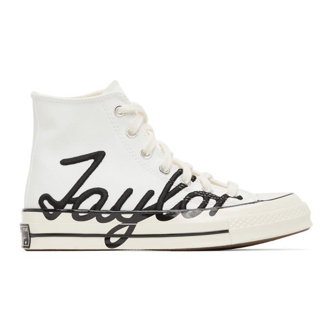 Photo: Converse White Signature Chuck 70 High Sneakers