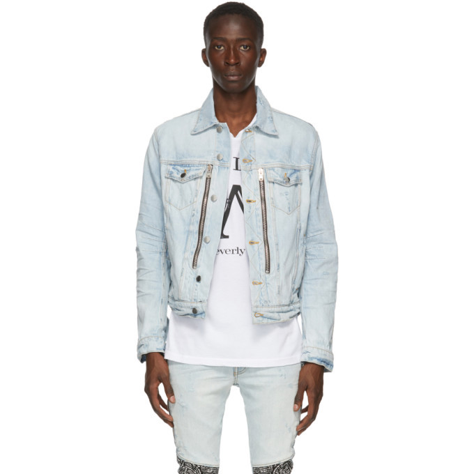Photo: Amiri Blue Denim Bandana MX2 Trucker Jacket