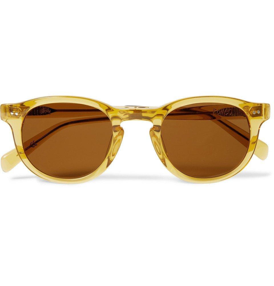 Photo: Stüssy - Romeo Round-Frame Acetate Sunglasses - Saffron