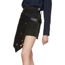 Sacai Black and Navy Gabardine Shorts