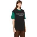 Martine Rose Black and Green Berghain T-Shirt