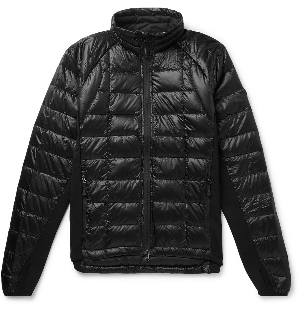 Photo: Canada Goose - Hybridge Slim-Fit Packable Quilted Shell and Stretch-Jersey Down Jacket - Black