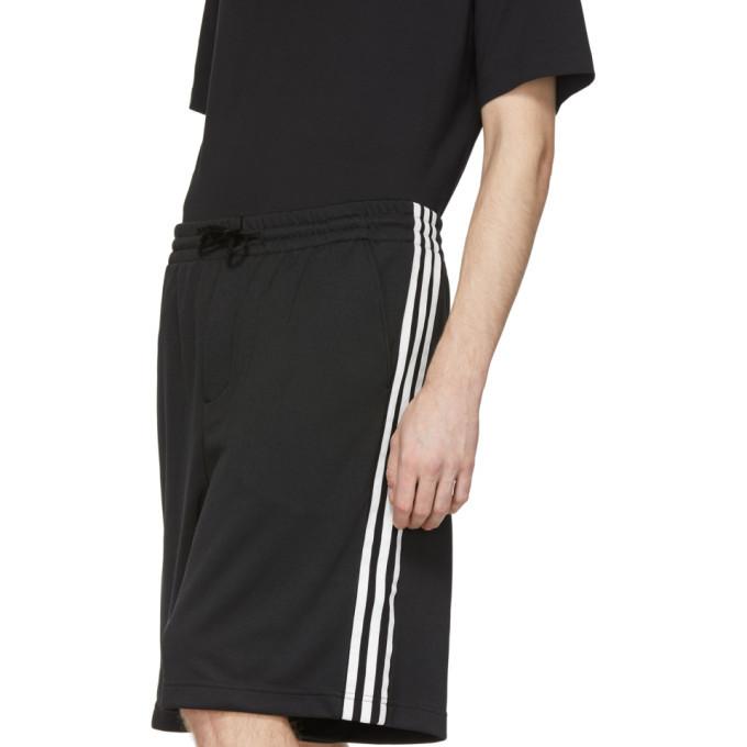 Y-3 Black 3-Stripes Track Shorts