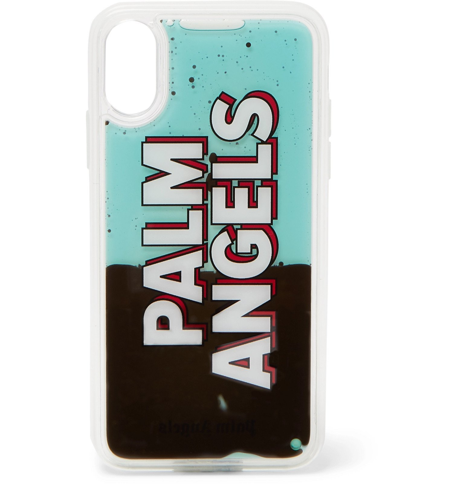 Photo: Palm Angels - Liquid Logo-Print iPhone X Case - Black