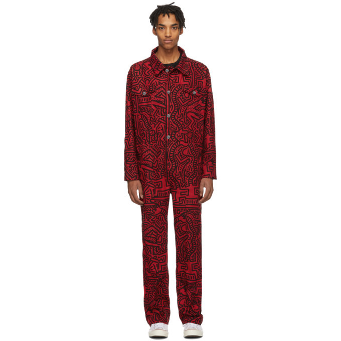 Photo: Etudes Red Keith Haring Edition Canyon Jumpsuit