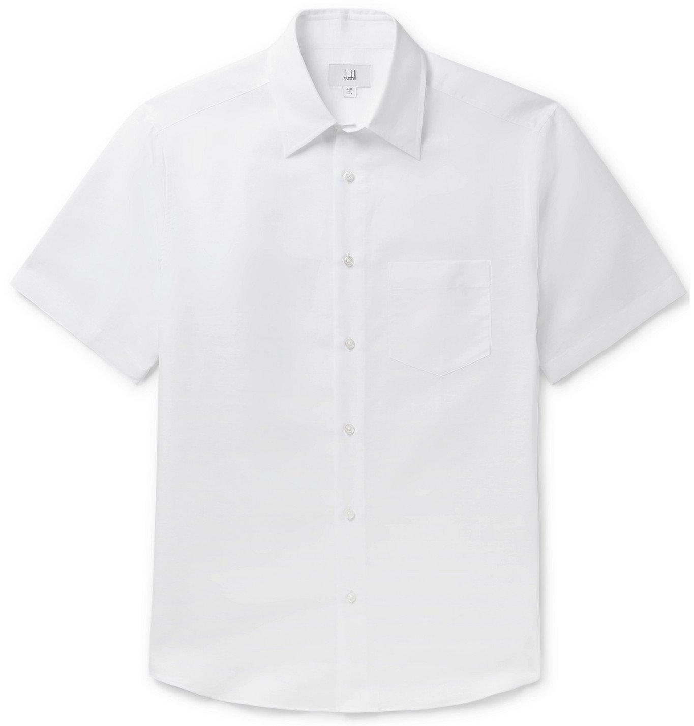 Dunhill - Linen and Cotton-Blend Shirt - White