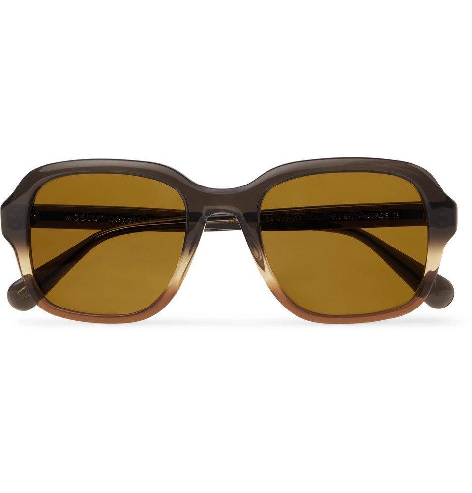 Photo: Moscot - Megillah Square-Frame Gradient Acetate Sunglasses - Brown