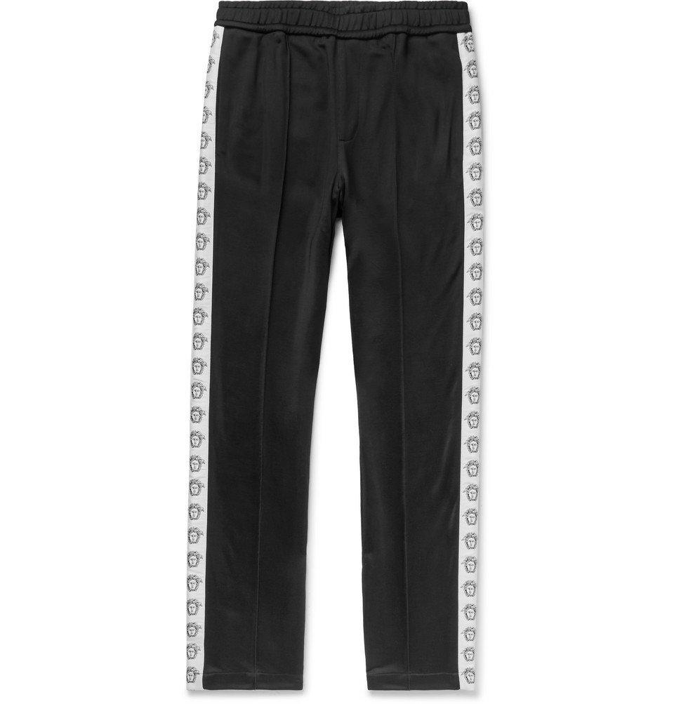 Photo: Versace - Logo-Detailed Tech-Jersey Track Pants - Black
