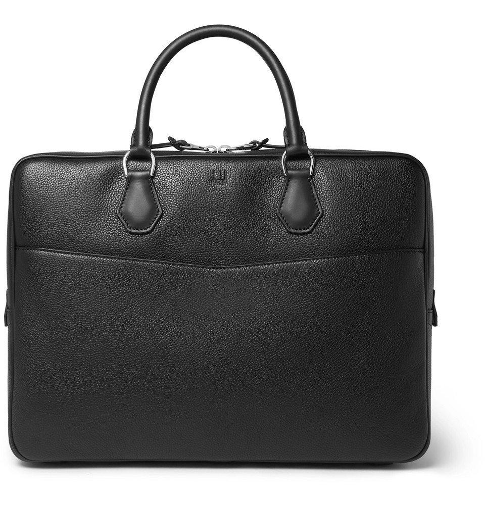 Dunhill - Boston Full-Grain Leather Briefcase - Men - Black