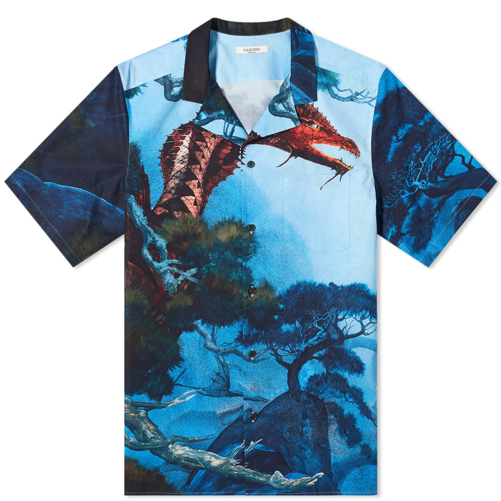 Photo: Valentino x Roger Dean Dragon Garden Vacation Shirt