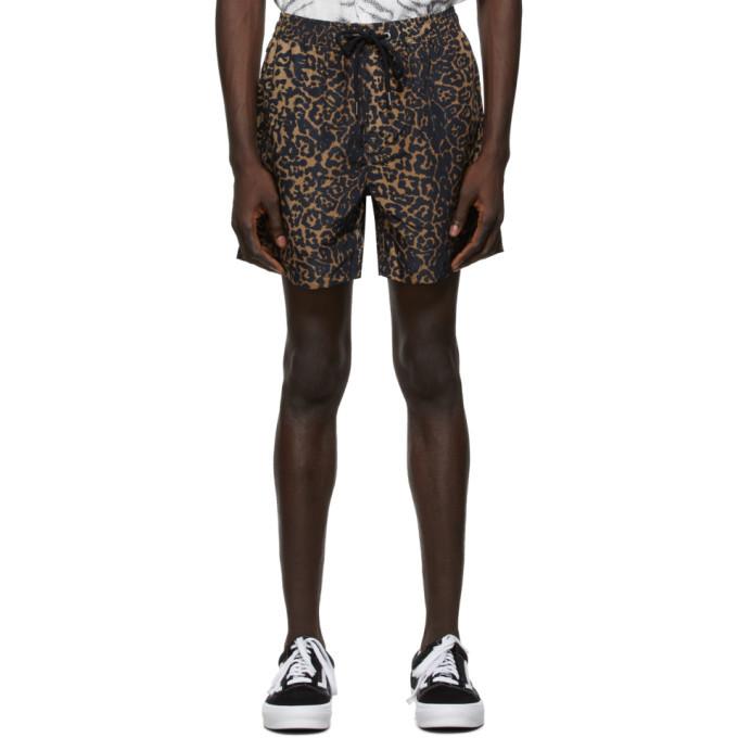 Ksubi Brown Leopard Whip Boardshorts