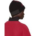 Raf Simons Black Crossed Stripes Beanie