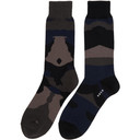 Sacai Navy and Black Camouflage Socks