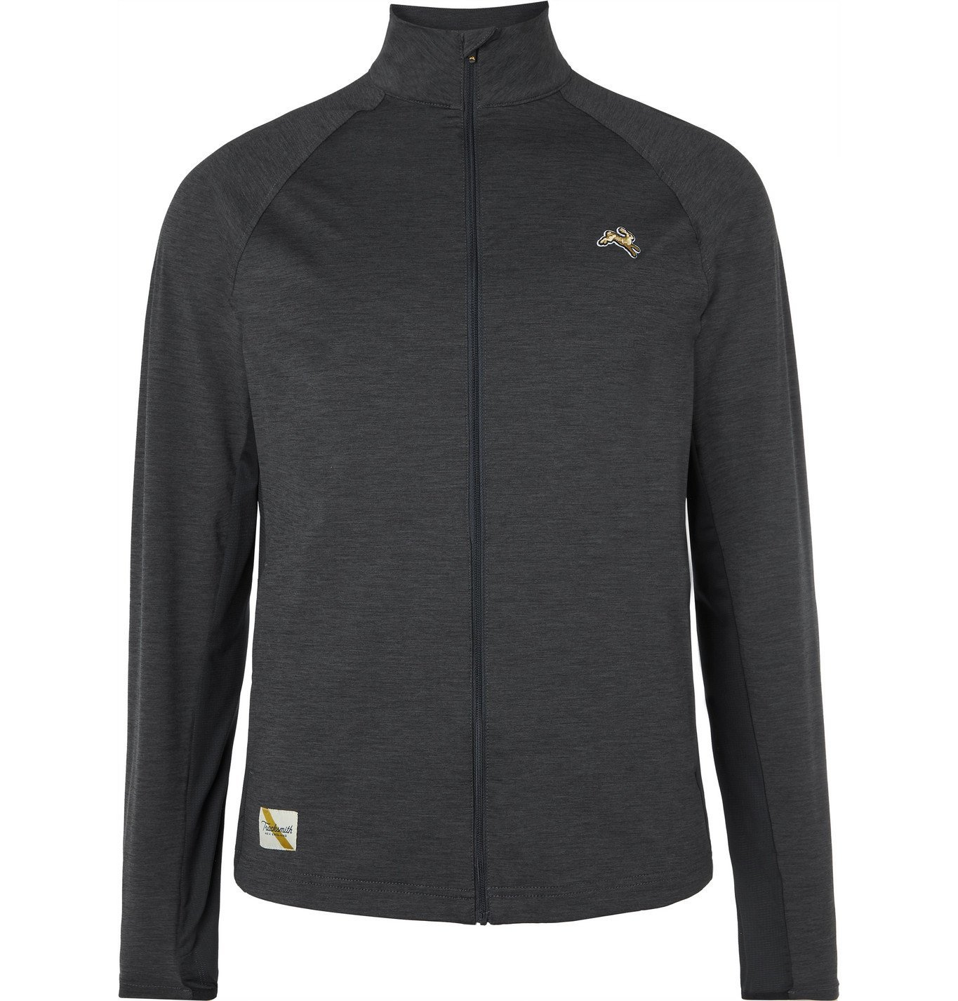 Photo: TRACKSMITH - Session Slim-Fit Mesh-Panelled Stretch-Jersey Jacket - Gray