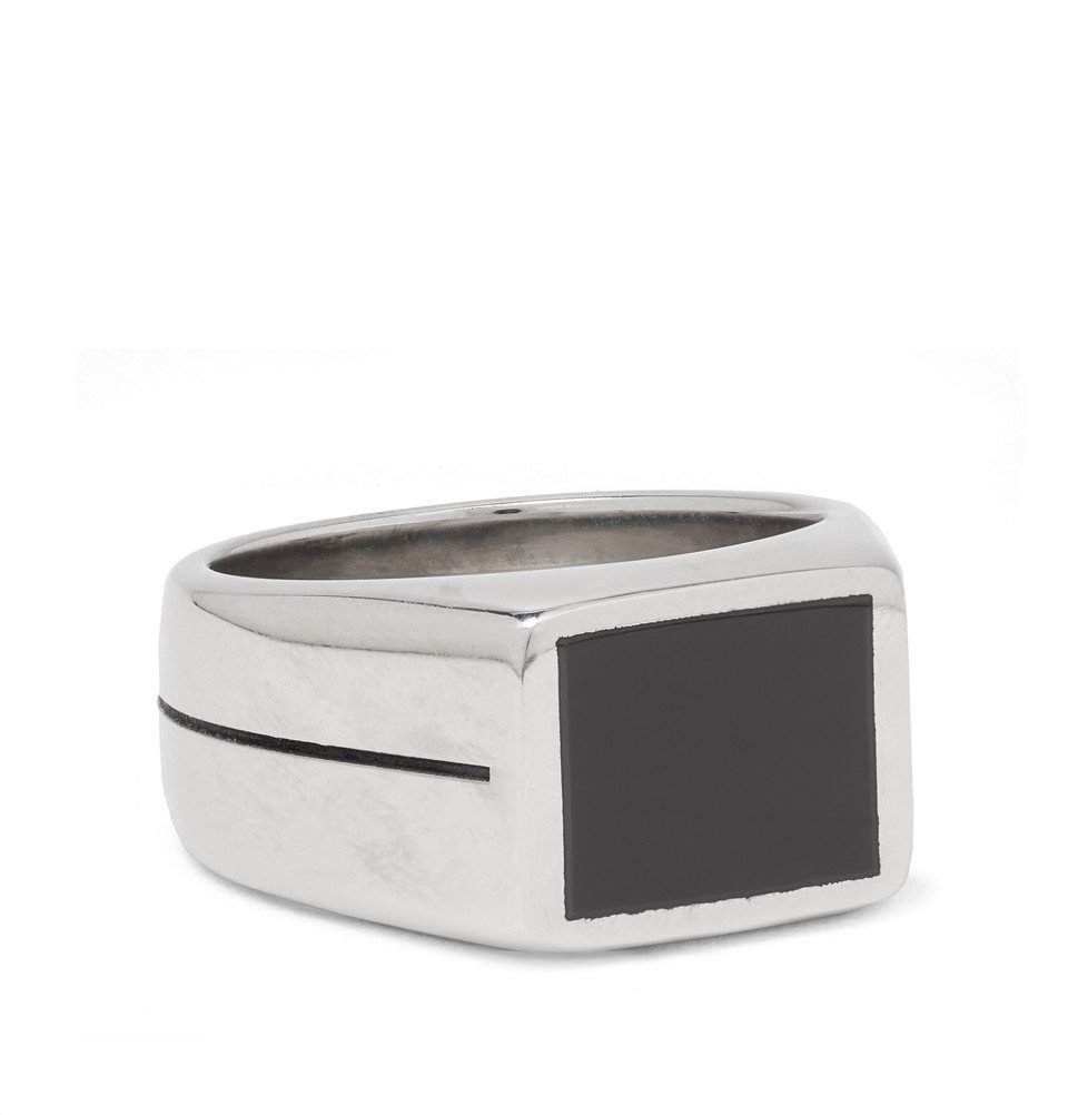 Photo: Givenchy - Silver-Tone and Enamel Ring - Silver