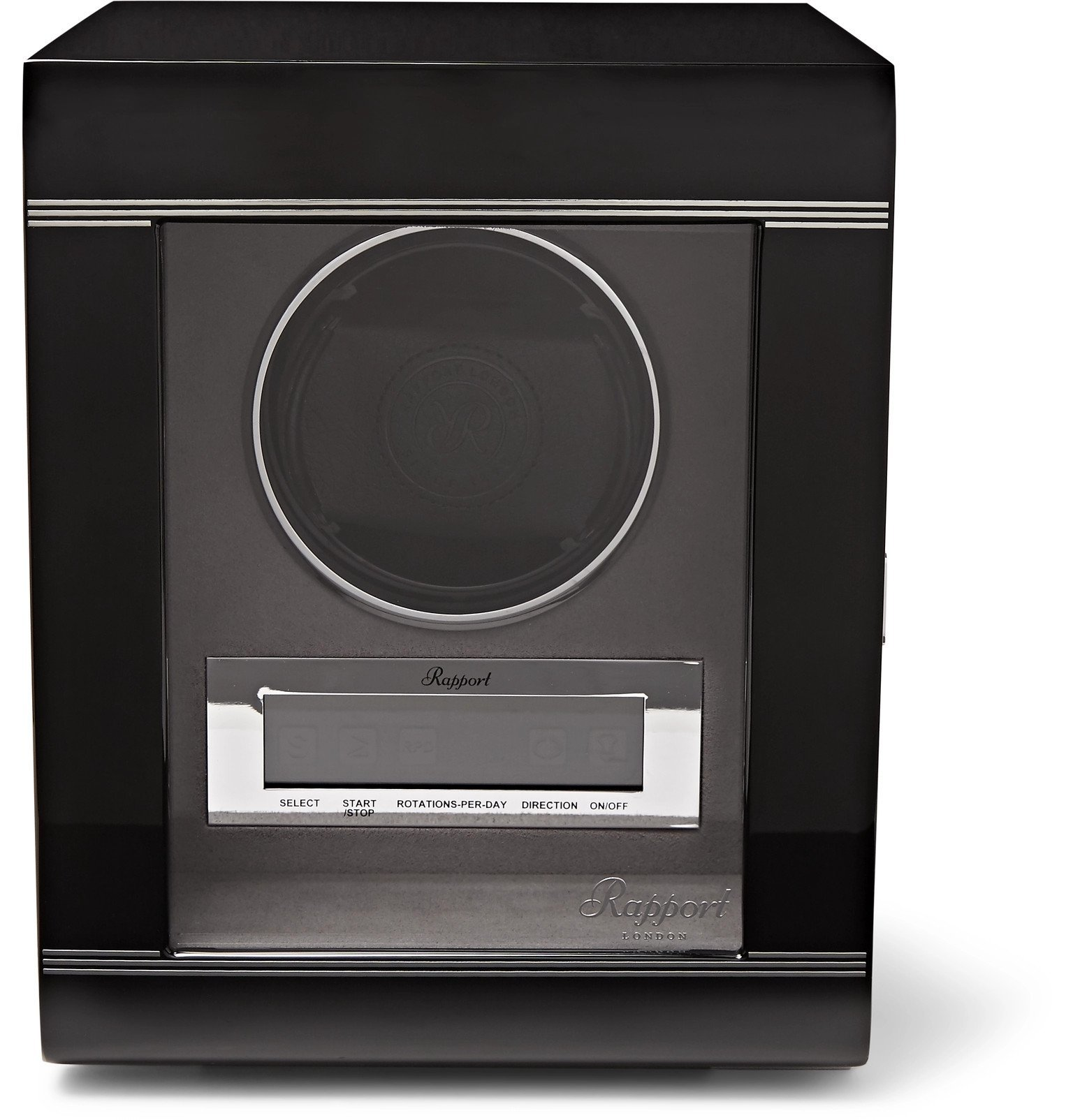Photo: Rapport London - Lacquered Ebony and Glass Watch Winder - Black
