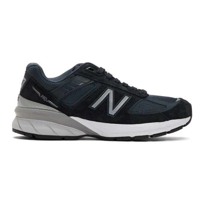 Photo: New Balance Navy 990v5 Sneakers