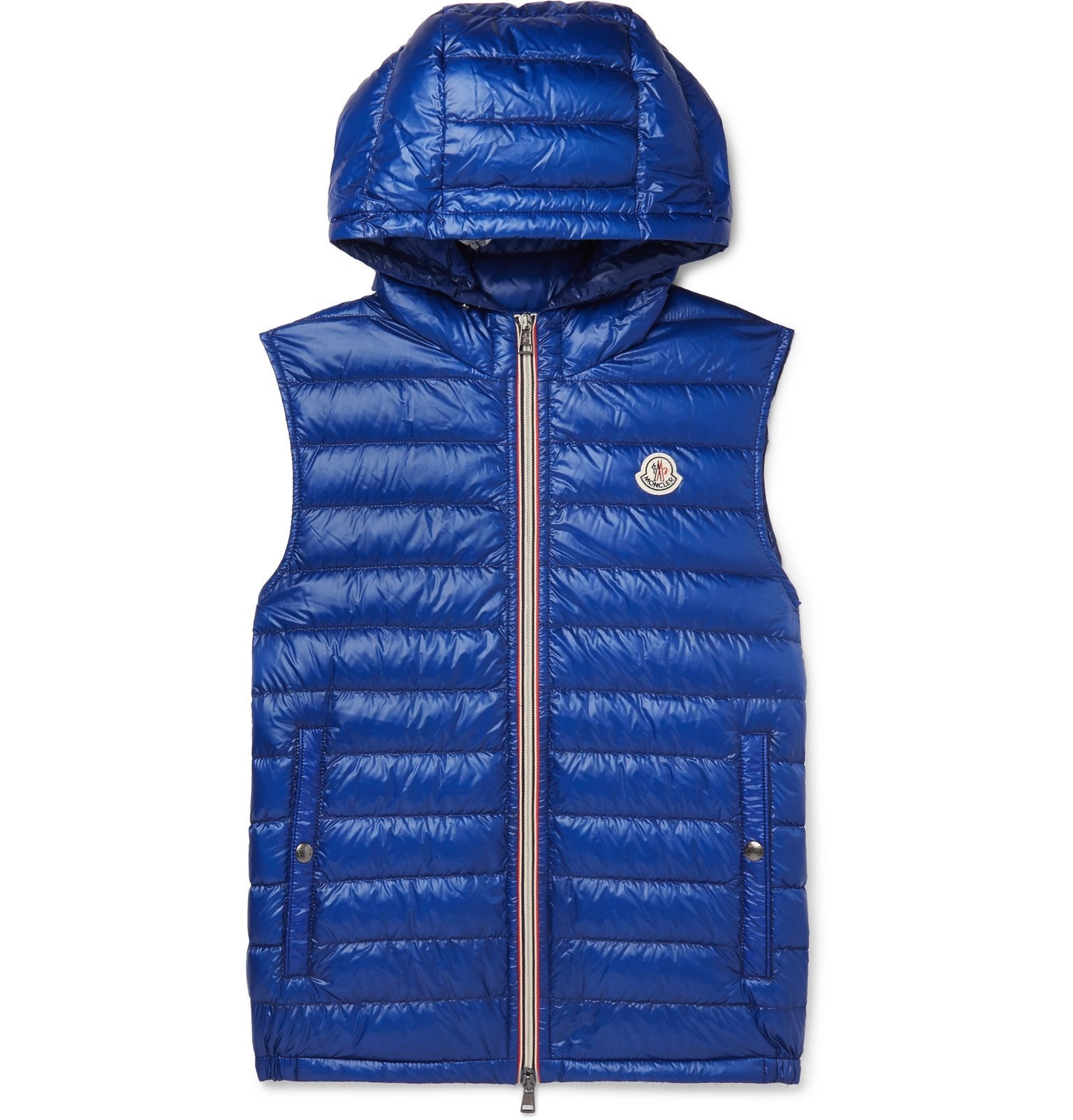 Photo: Moncler - Gien Quilted Shell Hooded Down Gilet - Blue