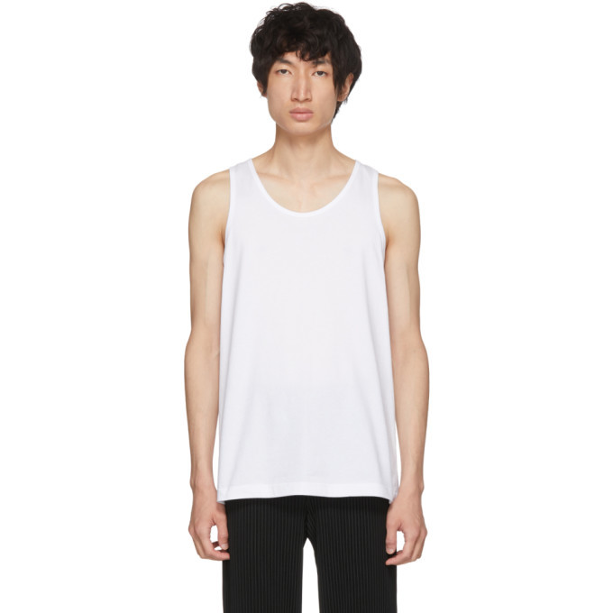 Photo: Comme des Garcons Shirt White Plain Fine Jersey Tank Top