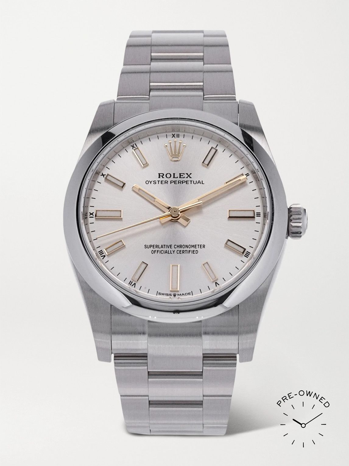 Photo: ROLEX - Pre-Owned 2016 Oyster Perpetual Automatic 34mm Oystersteel Watch, Ref. No. 124200
