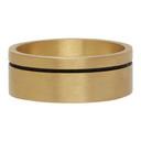 Giorgio Armani Gold Enamel Stripe Ring