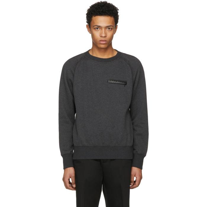 Bottega Veneta Grey Intrecciato Sweatshirt