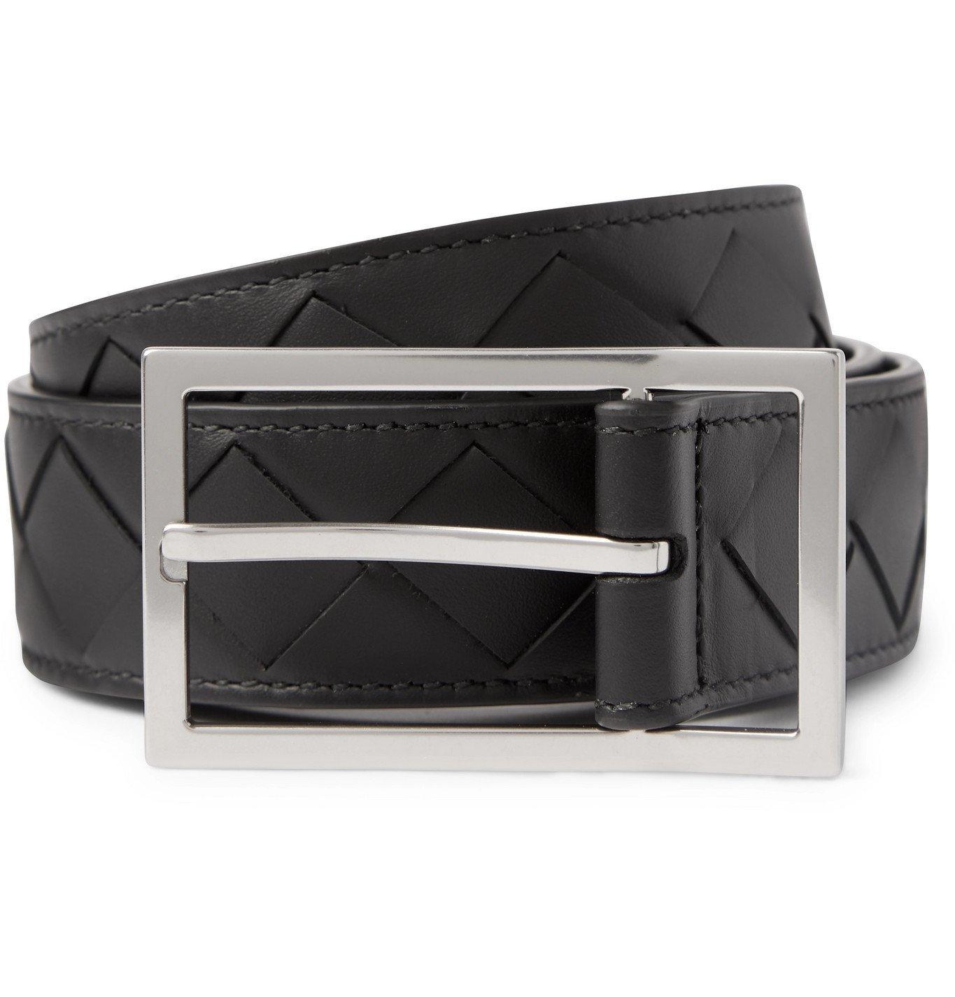 Photo: Bottega Veneta - 3cm Intrecciato Leather Belt - Black