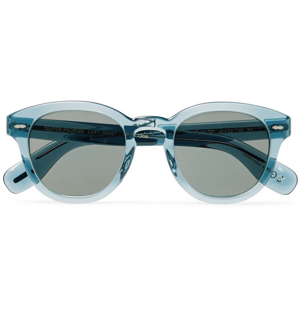 Oliver Peoples - Cary Grant Round-Frame Acetate Polarised Sunglasses - Blue