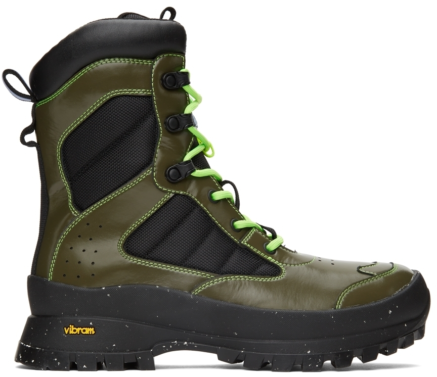 Photo: MCQ Khaki & Green In-8 Tactical Boots