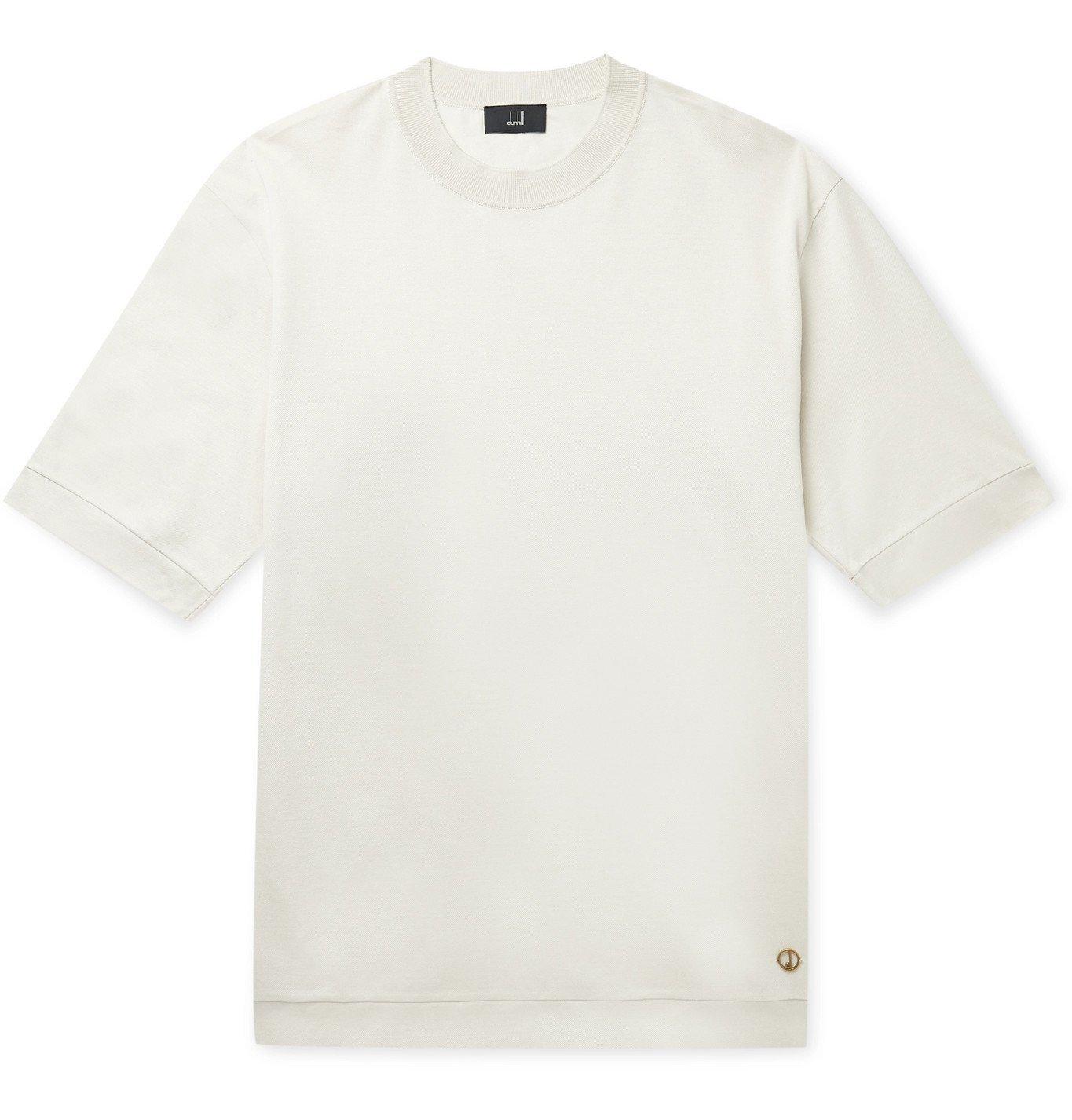 Dunhill - Cotton-Piqué T-Shirt - Neutrals