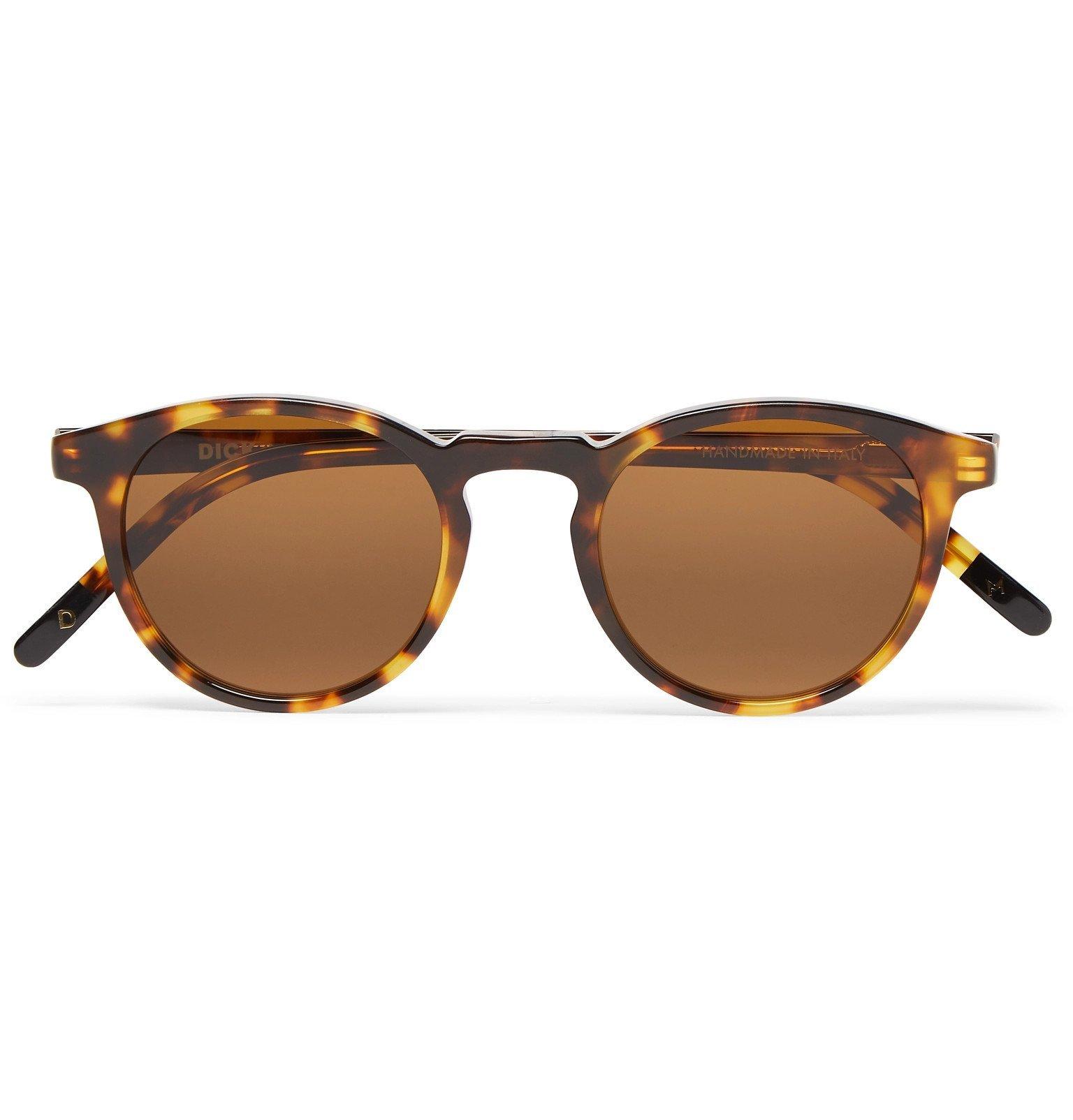 Photo: Dick Moby - Seattle Round-Frame Tortoiseshell Acetate Sunglasses - Tortoiseshell