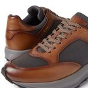 DUNHILL - Aerial Patina Mesh and Leather Sneakers - Brown