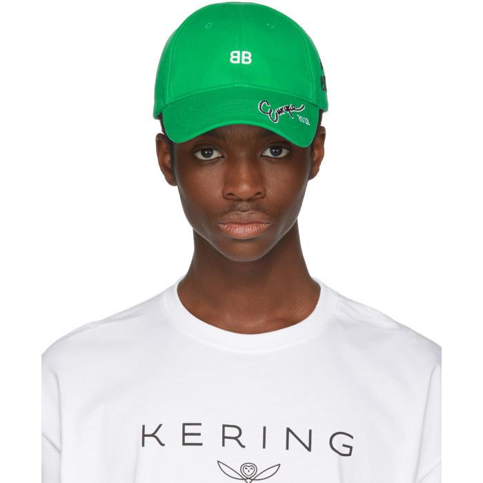 Photo: Balenciaga Green BB Cap