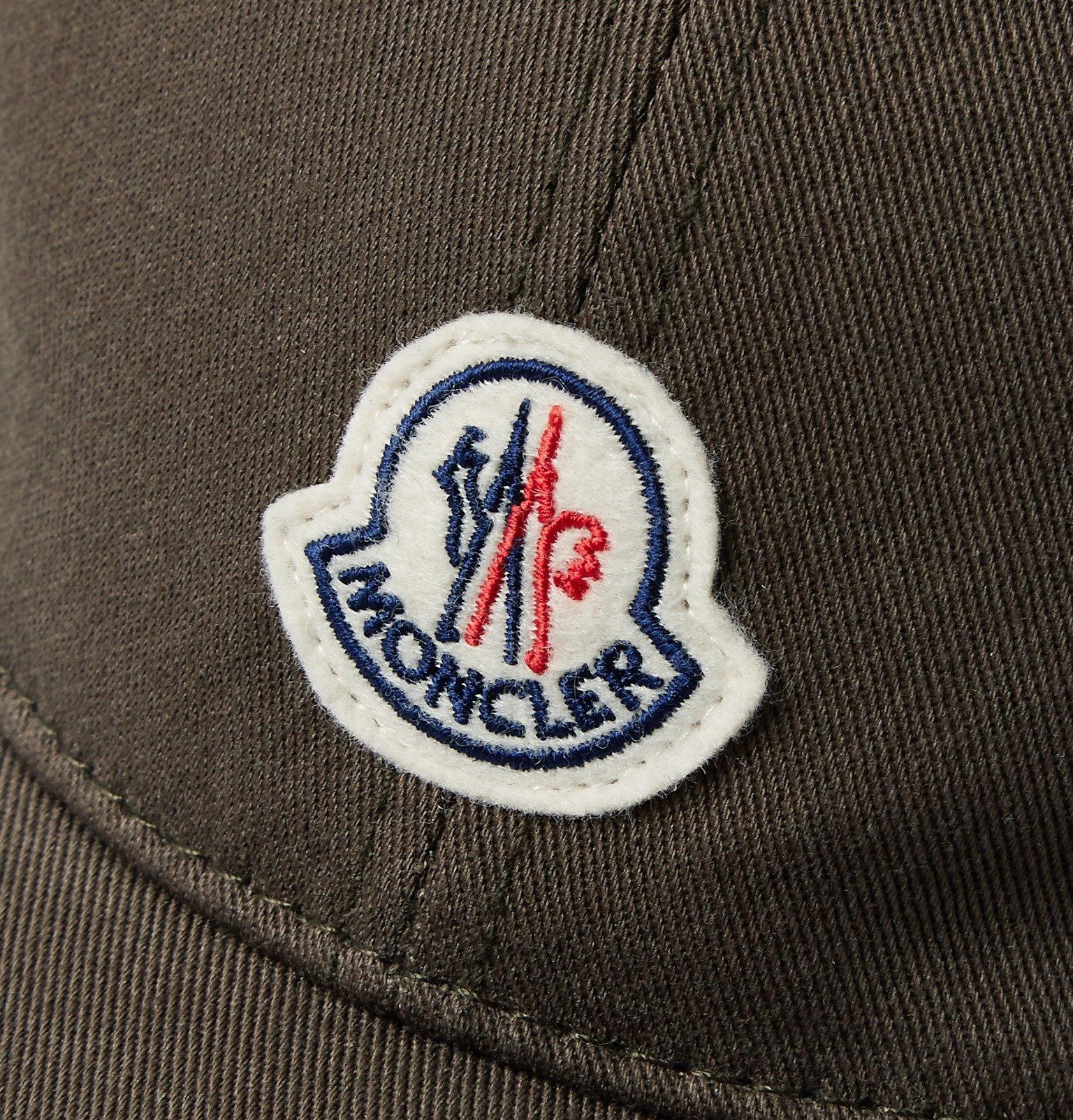 Moncler - Logo-Appliquéd Cotton-Twill Baseball Cap - Green