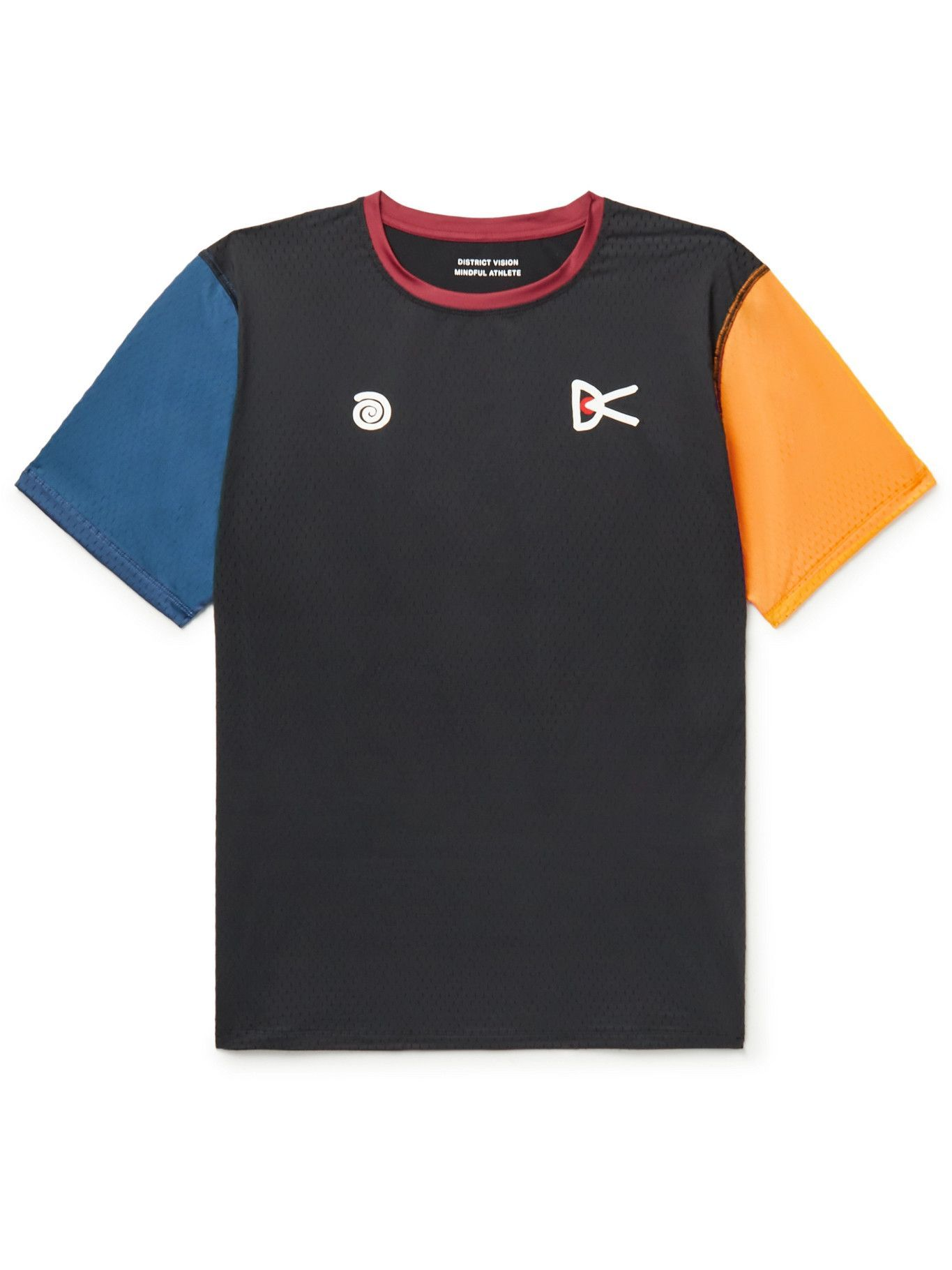 Photo: DISTRICT VISION - MR PORTER Health In Mind Air-Wear Colour-Block Stretch-Mesh T-Shirt - Black