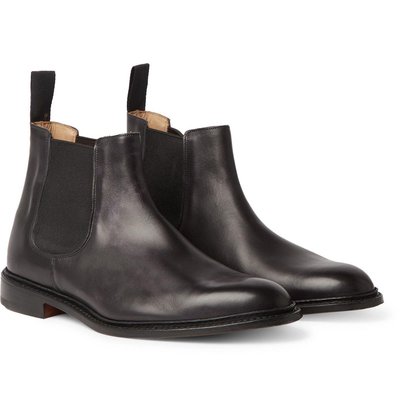 Photo: Tricker's - Roxbury Leather Chelsea Boots - Black