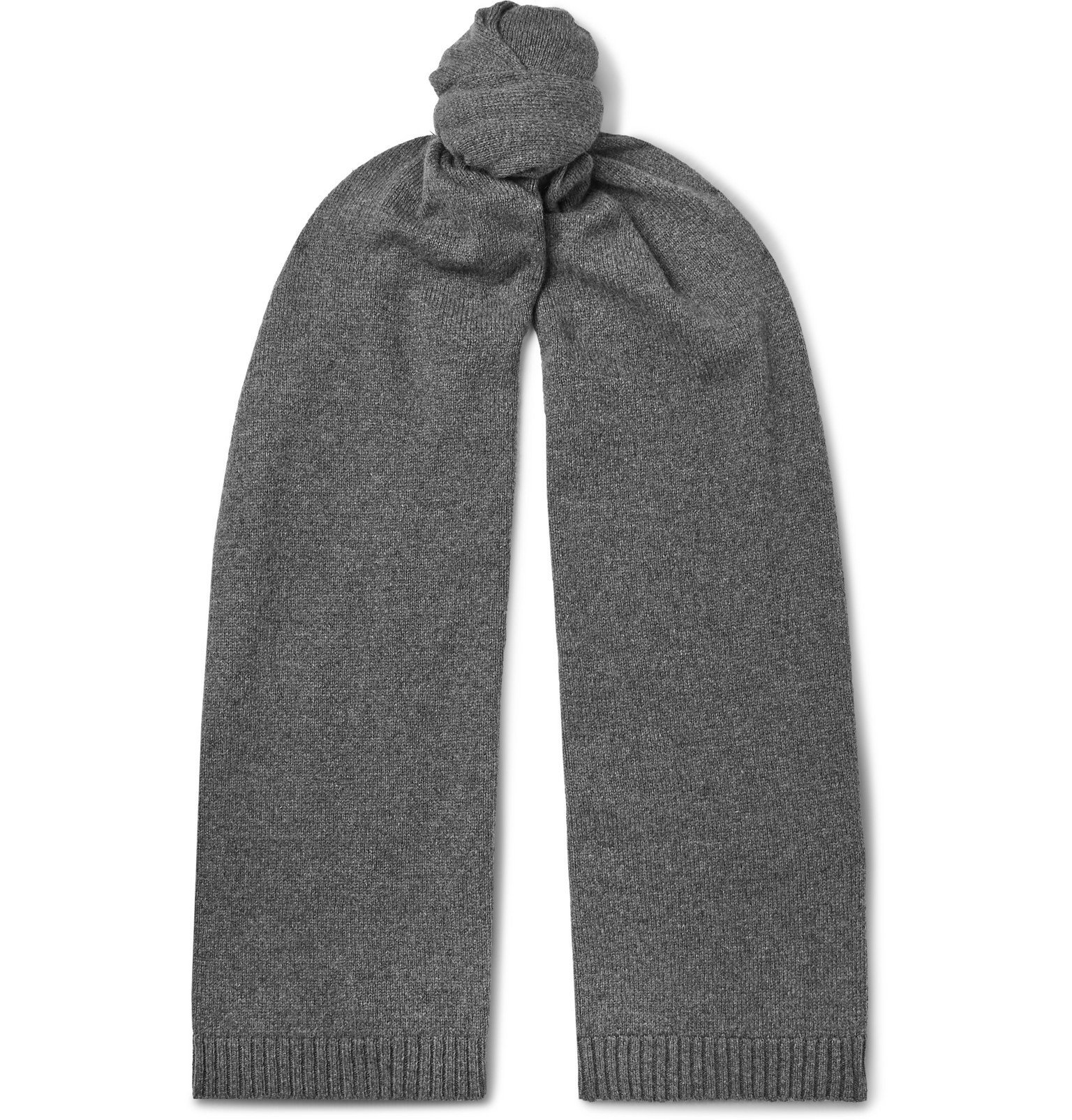 Photo: Officine Generale - Cashmere and Wool-Blend Scarf - Gray