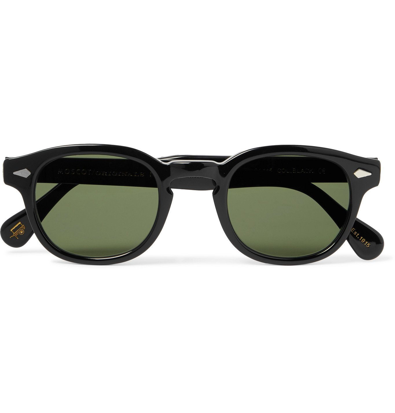 Photo: Moscot - Lemtosh Round-Frame Acetate Sunglasses - Black