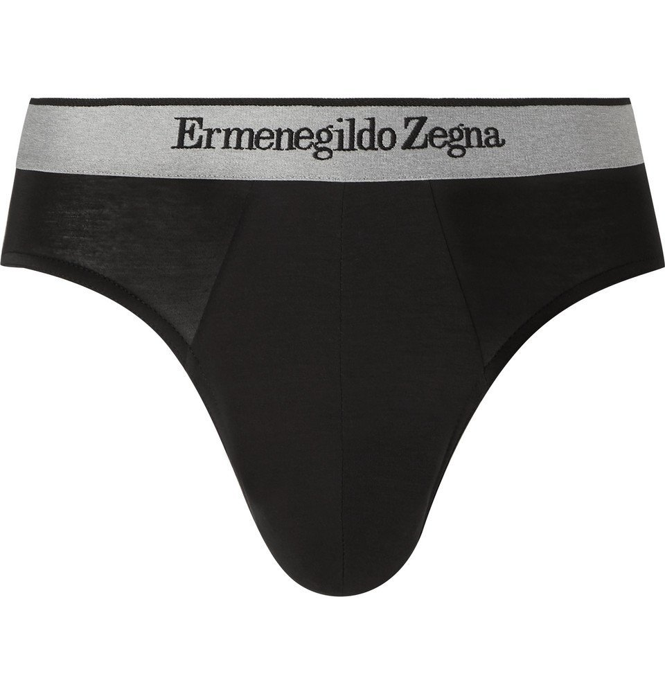 Photo: Ermenegildo Zegna - Stretch-Modal Jersey Briefs - Black