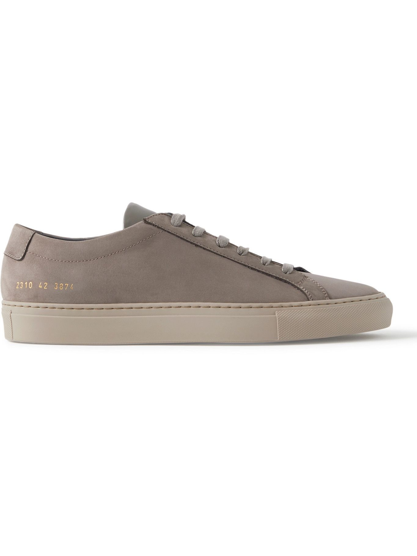 Common Projects - Original Achilles Nubuck and Leather Sneakers - Gray