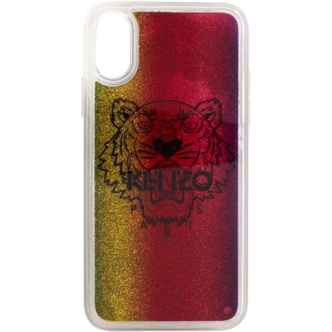 Photo: Kenzo Multicolor Glitter Tiger Head iPhone X/XS Case
