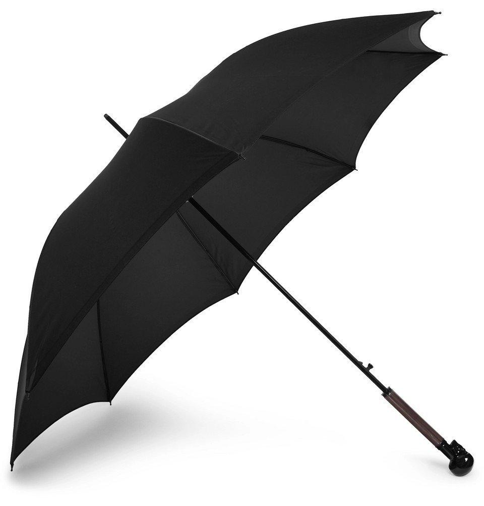 Photo: Alexander McQueen - Skull-Handle Umbrella - Black